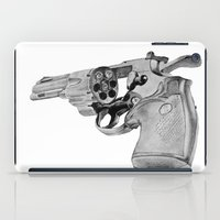 gun iPad Cases featuring gun by VoicesRantOn
