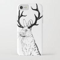 jackalope iPhone & iPod Cases featuring Jackalope by JChauvette