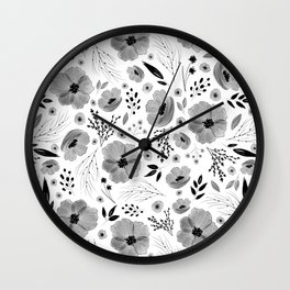 Lovely Little Floral Pattern Wall Clock
