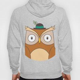 Cartoon Abstract Owl Hoody