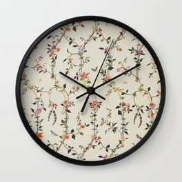 Floral Piece late 18th century Chinese for French market Wall Clock