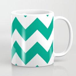 Emerald Chevron Coffee Mug