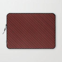 Aurora Red and Black Stripe Laptop Sleeve