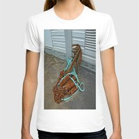 anchors T-shirts featuring Rusty anchors by Ricarda Balistreri