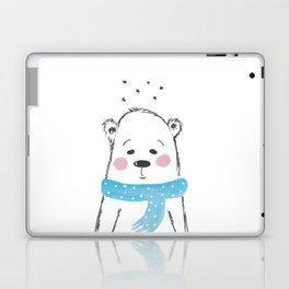 Cutie Polar Bear With a Scarf Laptop & iPad Skin