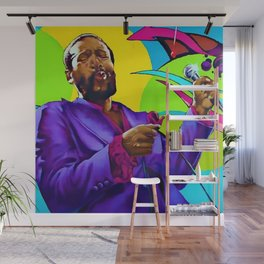African American Portrait 'The Prince of Soul' Wall Mural
