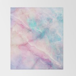 Iridescent marble Throw Blanket