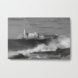 Black and White Morro Castle Metal Print