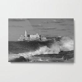 Black and White Morro Castle Metal Print