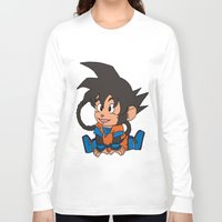 goku Long Sleeve T-shirts featuring Monkey Goku by Kame Nico