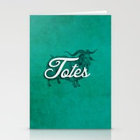 totes Stationery Cards featuring Totes Ma-Goat by The Office Of Ordinary Things
