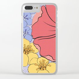 Floral Pop Clear iPhone Case