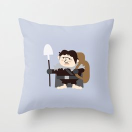 Samwell the Gardener Throw Pillow
