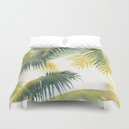 Tropical Palm Leaves Duvet Cover