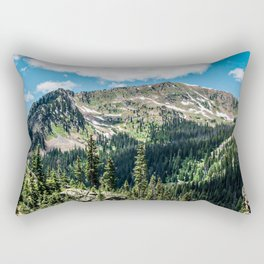 No Trails to the Top // Incredible Hiking Views Blissful Beauty Peaceful Landscape Photography Rectangular Pillow