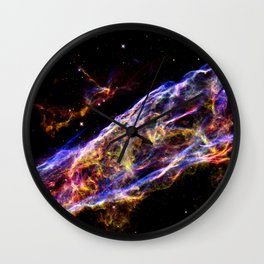 Colorful Galaxy : Veil Nebula Wall Clock