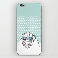 monkey iPhone & iPod Skins featuring Monkey by naidl