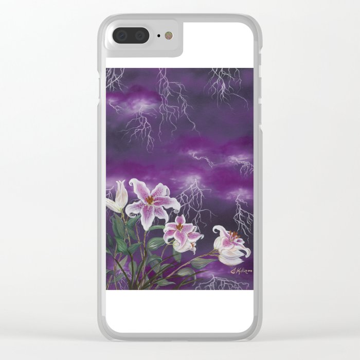 Electric Stargazers Clear iPhone Case