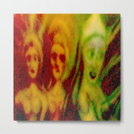 3 ladies F Metal Print