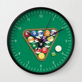 Billiard Balls Rack - Boules de billard Wall Clock