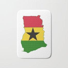 Ghana Map with Ghanian Flag Bath Mat
