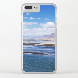 Brahmaputra river and mountain landscape - Tibet Clear iPhone Case