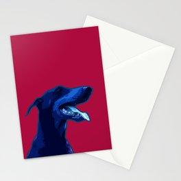 Doberman Pop art portrait. Stationery Cards