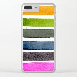 Watercolour Palette 1 Clear iPhone Case
