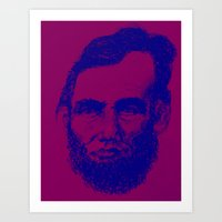 Abe In Navy  Art Print
