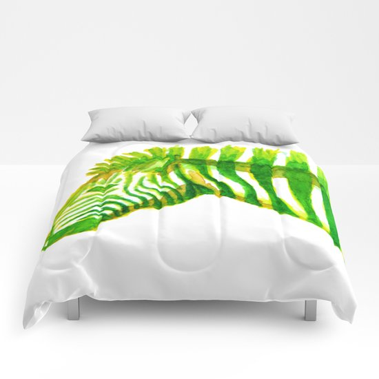 Zebra Watercolor Print Comforters