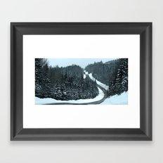 Winter Mountain Road Framed Art Print