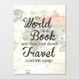 World is a Book Canvas Print