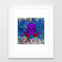 sugar skull Framed Art Prints featuring Sugar Skull by haroulita