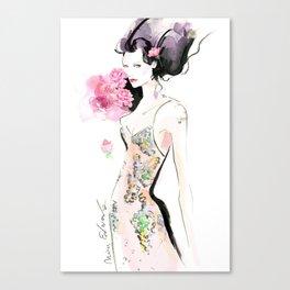 Rose Woman Canvas Print