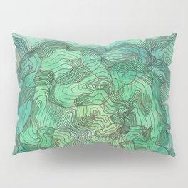 Green Blobs Pillow Sham