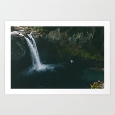 Twin Peaks Water Fall Art Print