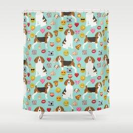 beagle emoji funny dog gifts emojis Shower Curtain