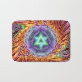 Alteuisha- Abstract Spiritual Fractal Art- Healing Art- Jewish Art- Merrkabbah Art Bath Mat