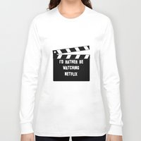 netflix Long Sleeve T-shirts featuring Netflix Killed Hollywood by Katie Gaughan