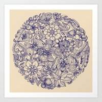 circle Art Prints featuring Circle of Friends by micklyn