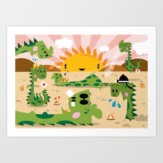 Monsters 2 ( 2007 ) Art Print