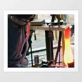 Hot Glass Art Print