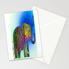 Exploding Elephant  Stationery Cards