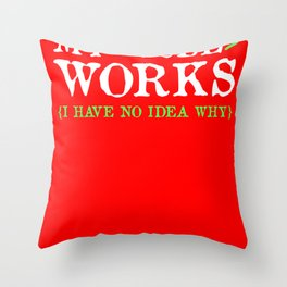 Code programmer work Throw Pillow