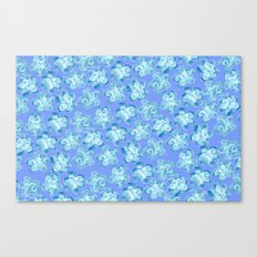 Wallflower - Colony Blue Canvas Print