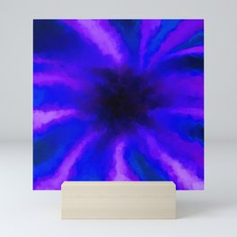 Ultra Violet Beams Captured by a Black Hole Mini Art Print