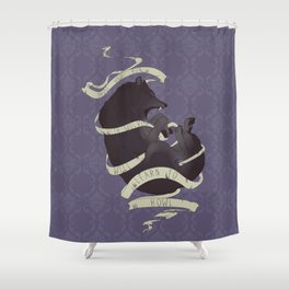 Running with wolves Shower Curtain