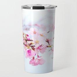 Japanese cherry-blossom tree, 'Oh-kanzakura' Travel Mug