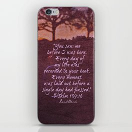 Psalm 139 iPhone Skin