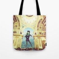 scuba Tote Bags featuring scuba by Caroline A